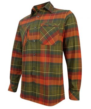 The Rantin Robin Hoggs of Fife Autumn Luxury Hunting Shirt Angled View
