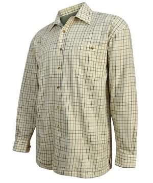 The Rantin Robin Hoggs of Fife Birch Micro Fleece Lined Shirt Angled View