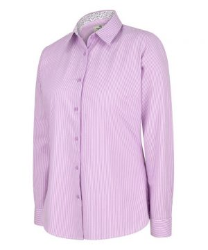 The Rantin Robin Bonnie II Ladies Cotton Shirt Lavender Colour Front View