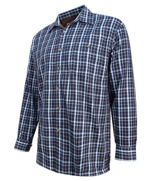 The Rantin Robin Hoggs of Fife Bark Micro Fleece Lined Shirt Angled View