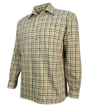 The Rantin Robin Hoggs of Fife Bracken Micro Fleece Lined Shirt Angled View