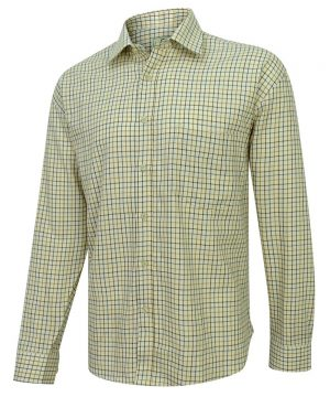 The Rantin Robin Hoggs of Fife Pure Cotton Tattersall Check Shirt Brown