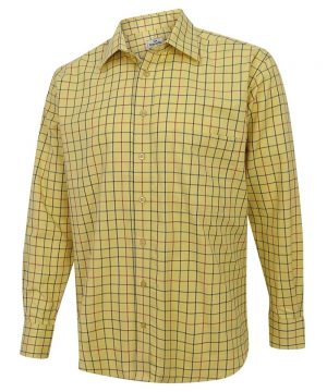 The Rantin Robin Hoggs of Fife Governor Premier Tattersall Shirt Angled View