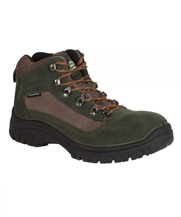 The Rantin Robin Rambler Waterproof Hiking Boots Green Colour