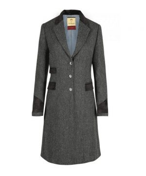 The Rantin Robin Welligogs Demelza Grey Tweed Coat