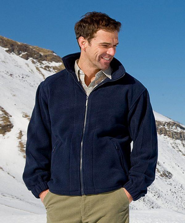 The Rantin Robin Hoggs of Fife Bute Fleece Jacket Model
