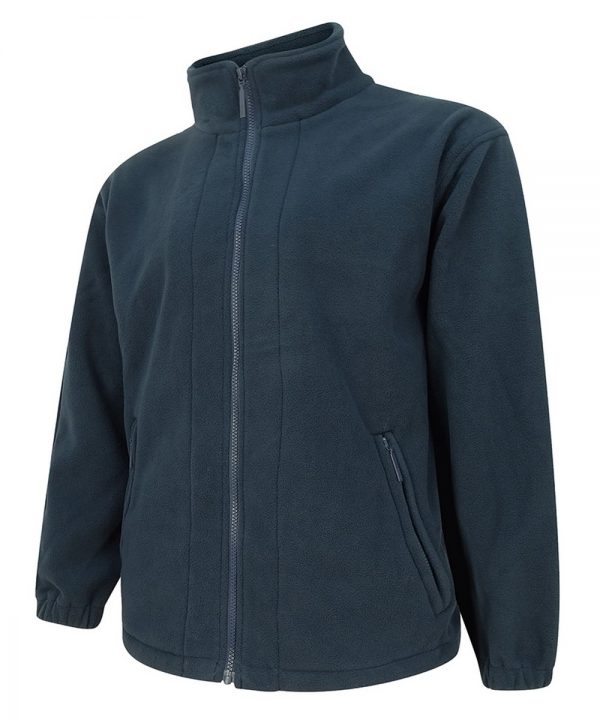 The Rantin Robin Hoggs of Fife Bute Fleece Jacket Navy Colour