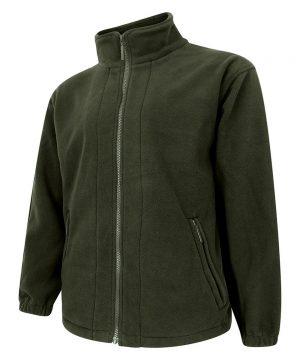 The Rantin Robin Hoggs of Fife Bute Fleece Jacket Olive Colour