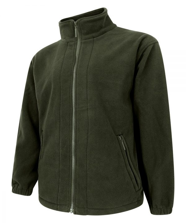 The Rantin Robin Hoggs of Fife Bute Fleece Jacket Olive Colour