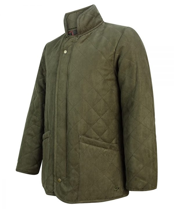 The Rantin Robin Hoggs of Fife Carlton Quilted Jacket Angled View