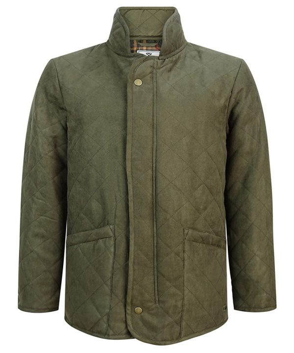 The Rantin Robin Hoggs of Fife Carlton Quilted Jacket Front View