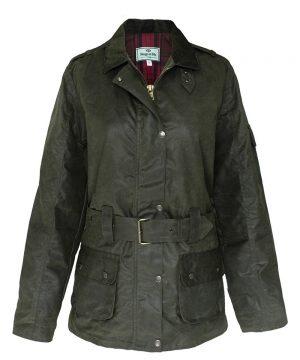 The Rantin Robin Hoggs of Fife Cheltenham Belted Waxed Jacket