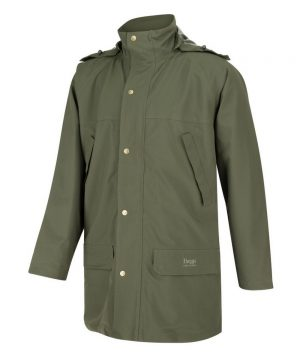 The Rantin Robin Green King II Waterproof Jacket Front View