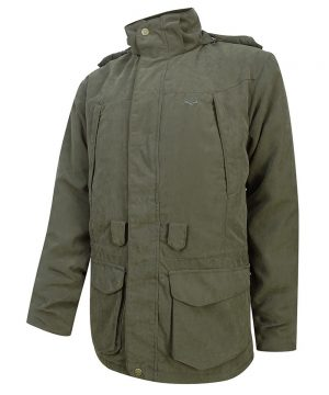 The Rantin Robin Hoggs of Fife Glenmore Waterproof Shooting Jacket Front View