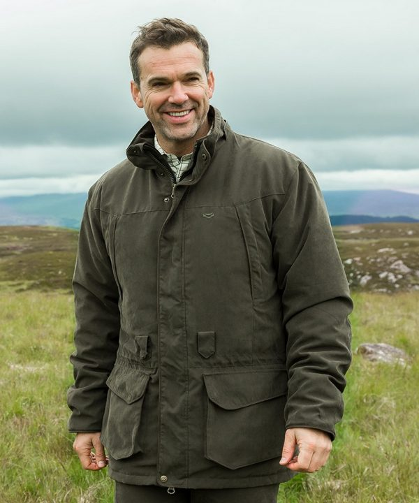 The Rantin Robin Glenmore Waterproof Shooting Jacket Model