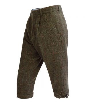 The Rantin Robin Harewood Lambswool Tweed Breeks Angled View