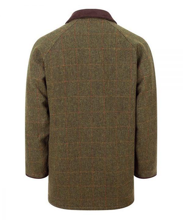 The Rantin Robin Harewood Lambswool Tweed Shooting Jacket Back View