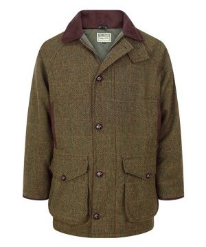 The Rantin Robin Harewood Lambswool Tweed Shooting Jacket Front View