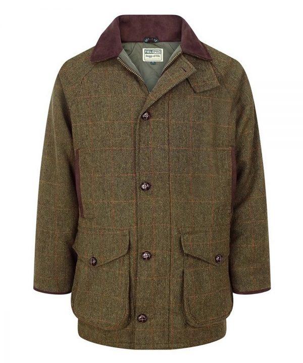 The Rantin Robin Harewood Lambswool Tweed Shooting Jacket Front View