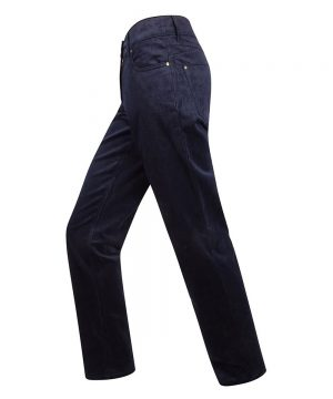 The Rantin Robin Hoggs of Fife Ladies Cord Jeans Navy Colour