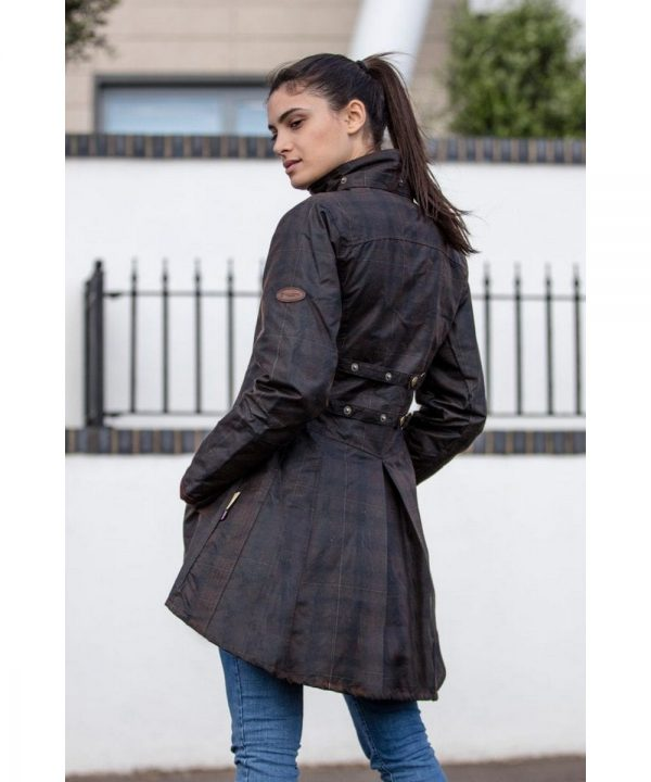 The Rantin Robin Welligogs Louise Deluxe Check Waxed Jacket Model