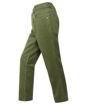 The Rantin Robin Mens Moleskin Jeans Lovat Colour