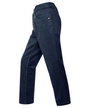 The Rantin Robin Mens Moleskin Jeans Dark Navy Colour