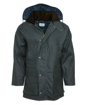 The Rantin Robin Olive Padded Waxed Jacket