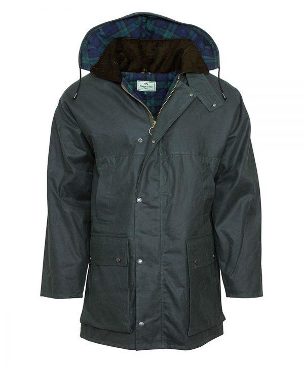The Rantin Robin Olive Padded Waxed Jacket