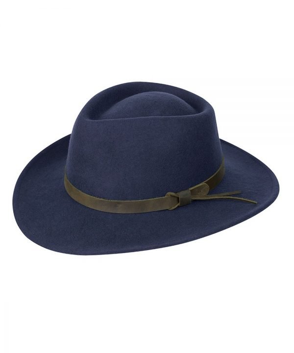 The Rantin Robin Hoggs of Fife Perth Crushable Felt Hat Navy
