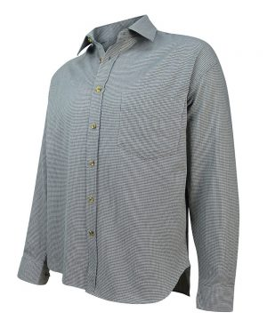The Rantin Robin Hoggs of Fife Pure Cotton Pin Check Shirt Angled View