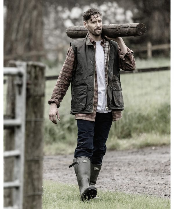The Rantin Robin Hoggs of Fife Padded Waxed Waistcoat Model