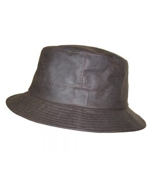 The Rantin Robin Hoggs of Fife Waxed hat Bush Hat Brown
