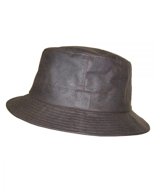 The Rantin Robin Hoggs of Fife Waxed hat Bush Hat Brown