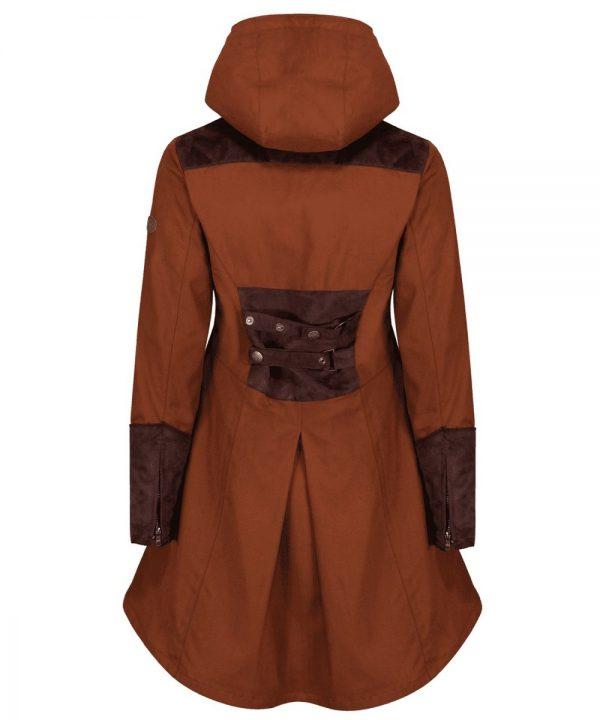 The Rantin Robin Odette Cinnamon Waterproof Jacket Back