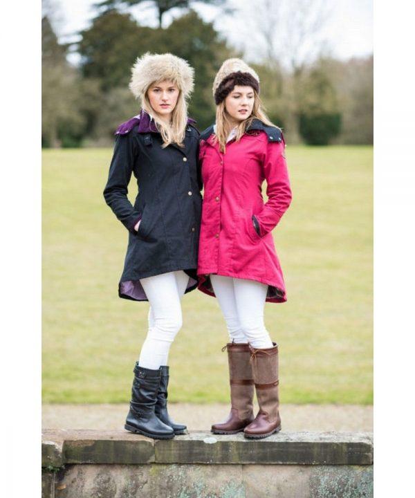 The Rantin Robin Welligogs Odette Cranberry Waterproof Jacket Model