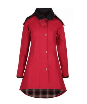 The Rantin Robin Odette Cranberry Waterproof Jacket