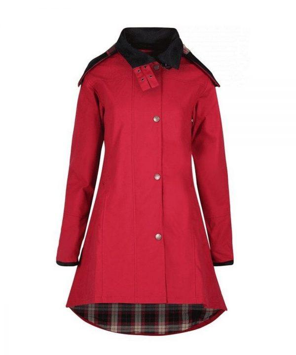 The Rantin Robin Odette Cranberry Waterproof Jacket