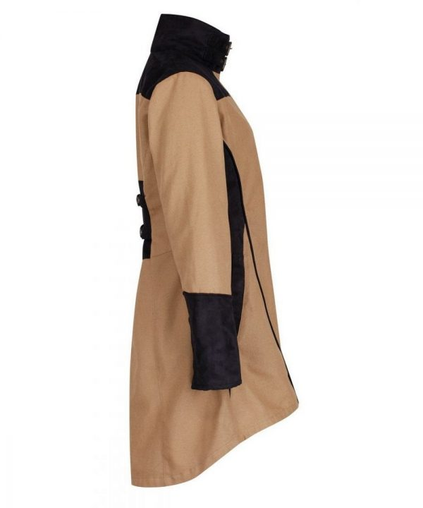 The Rantin Robin Odette Tan Waterproof Jacket Side View