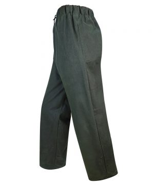 The Rantin Robin Hoggs of Fife Waxed Overtrousers Olive Colour