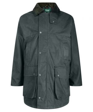 The Rantin Robin Hoggs of Fife Woodsman Waxed Jacket Front View
