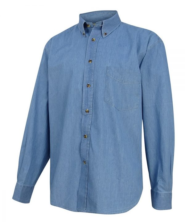 The Rantin Robin Hoggs of Fife Classic Chambray Shirt Blue Colour