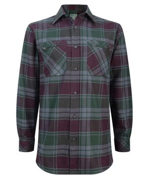 The Rantin Robin Hoggs of Fife Eden Luxury Hunting Shirt Front View
