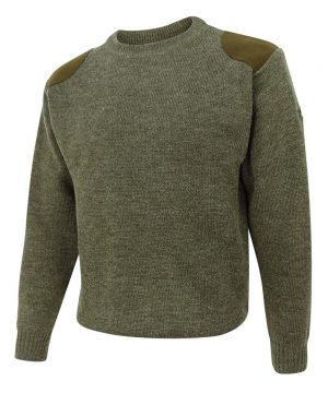 The Rantin Robin Hoggs of Fife Melrose Hunting Pullover Green