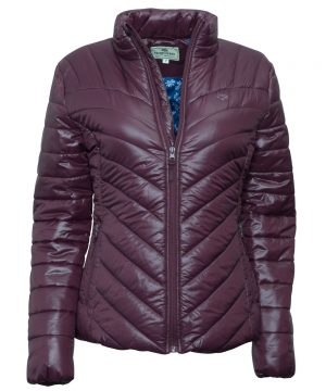 The Rantin Robin Hoggs of Fife Wilton Padded Jacket Dark Plum