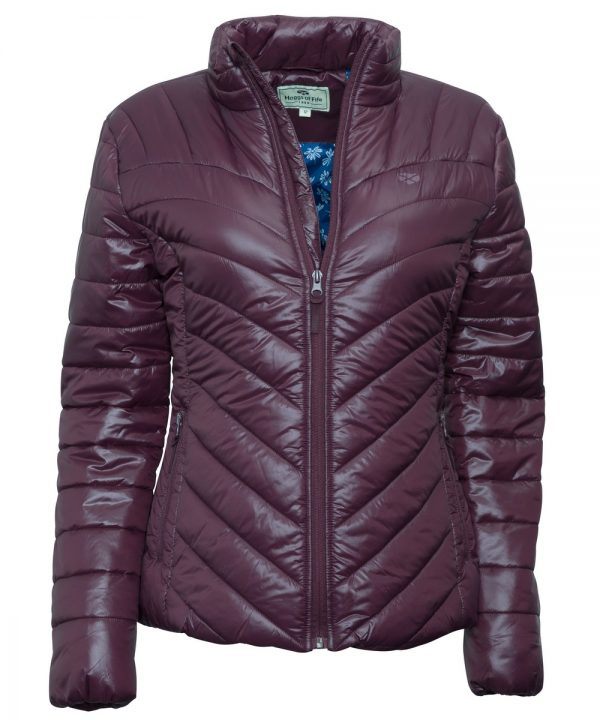 The Rantin Robin Hoggs of Fife Wilton Padded Jacket Plum
