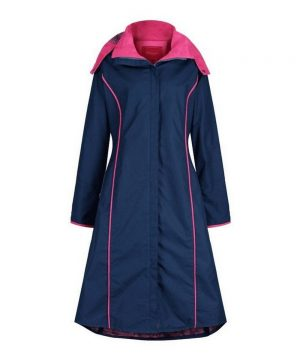 The Rantin Robin Welligogs Eleanor Long Length Navy Coat
