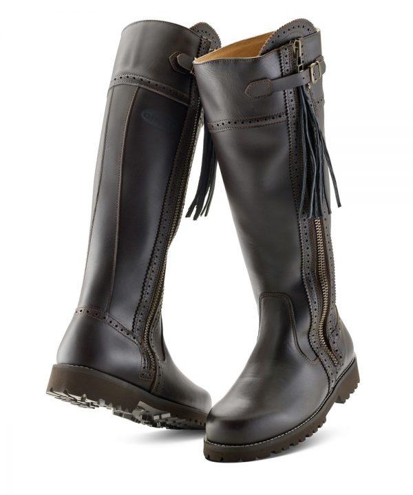 The Rantin Robin Grubs Alston Ladies Brown Leather Boots