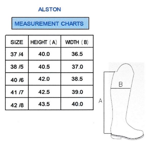 The Rantin Robin Alston Ladies Brown Leather Boots Size Chart
