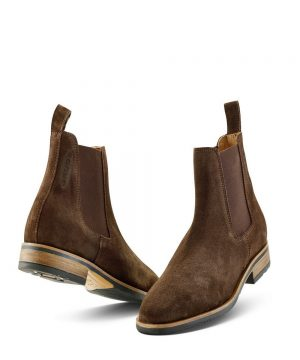 The Rantin Robin Grubs Tatton Brown Suede Chelsea Boots